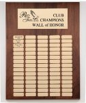 Genuine Walnut Perpetual Plaques Large Perpetual Plaques