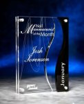 Wave Cutout Clear and Black Acrylic Award Modern Design Award Series