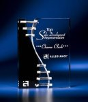 Wave Crevice Acrylic Award with Black Accent Modern Design Award Series