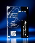 Circle Cutout Clear and Black Acrylic Award Modern Design Award Series