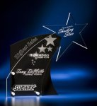 Clear Star with Black Accent Acrylic Award Modern Design Award Series