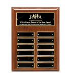Walnut Piano Finish Perpetual Plaque Monthly Perpetual Plaques