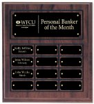 Cherry Finish Perpetual Plaque Monthly Perpetual Plaques