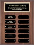 Genuine Walnut Perpetual Plaques Monthly Perpetual Plaques