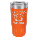 Stainless Steel Ringneck Double Wall Insulated Tumbler -Orange  Name Badges | Plates
