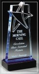 Blue Lasered Star Accent On Base Patriotic Awards