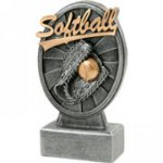 Pinwheel Script Resin -Softball Pinwheel Script Resin Trophy Awards