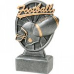 Pinwheel Script Resin -Football Pinwheel Script Resin Trophy Awards