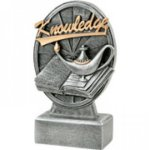 Pinwheel Script Resin -Lamp of Knowledge Pinwheel Script Resin Trophy Awards