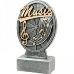 Pinwheel Script Resin -Music Pinwheel Script Resin Trophy Awards