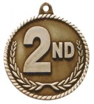 High Relief Medal-2nd Place Poker Trophy Awards