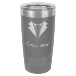 Stainless Steel Ringneck Double Wall Insulated Tumbler -Dark Gray Promotional Mugs