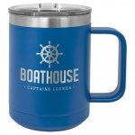 Double Wall Insulated Coffee Mug - Blue Promotional Mugs