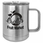 Double Wall Insulated Coffee Mug - Silver Promotional Mugs
