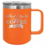 Double Wall Insulated Coffee Mug - Orange Promotional Mugs