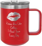 Double Wall Insulated Coffee Mug - Red Promotional Mugs