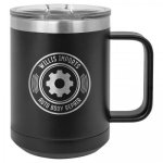 Double Wall Insulated Coffee Mug - Black Promotional Mugs
