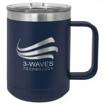 Double Wall Insulated Coffee Mug - Navy  Promotional Mugs
