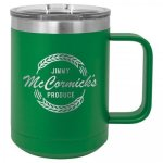 Double Wall Insulated Coffee Mug - Green Promotional Mugs