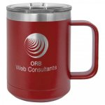 Double Wall Insulated Coffee Mug - Maroon Promotional Mugs