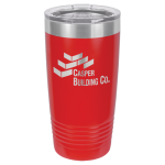 Stainless Steel Ringneck Double Wall Insulated Tumbler -Red Promotional Mugs