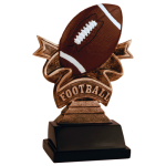 Ribbon Resin -Football Ribbon Resin Trophy Awards