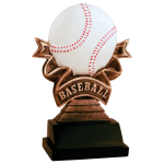 Ribbon Resin -Baseball Ribbon Resin Trophy Awards