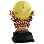 Ribbon Resin -Softball Ribbon Resin Trophy Awards