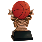Ribbon Resin -Basketball Ribbon Resin Trophy Awards