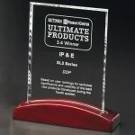 Parkdale Rectangle Rosewood Glass Awards