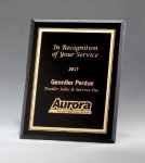 Black Glass Plaques with Gold Borders Sales Awards