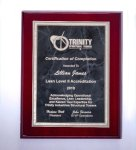 Rosewood High Lustr Plaque with Gray Marble Plate Sales Awards