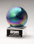 Metallic Prism-Effect Art Glass Globe Award Sales Awards