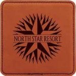 Leatherette Square Coaster -Rawhide Sales Awards
