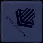 Leatherette Square Coaster -Blue Sales Awards