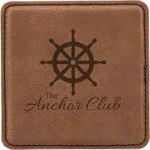 Leatherette Square Coaster -Dark Brown Sales Awards