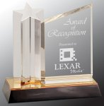 Star Column with Acrylic Plaque Sales Awards