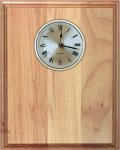 Genuine Red Alder Clock Plaque Sales Awards
