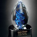 Blue Swirl on Black Base Sales Awards