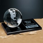 Continental Globe on Glass Base Sales Awards