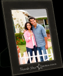Leatherette Picture Frame -Black/Silver Sales Awards