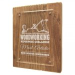 Reclaimed Wood Floating Acrylic Plaque with Magnetic Standoffs Sales Awards