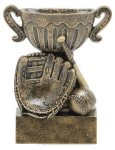 Sport Cup Antique Gold -Baseball Sport Cup Resin Trophy Awards