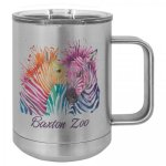 Stainless Steel Full Color Custom Double Wall Insulated Coffee Mug Stainless Steel Drinkware