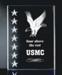3 Dimensional Stars on Side Plaque Star Awards
