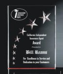 3 Dimensional Carved Star Plaque Star Awards