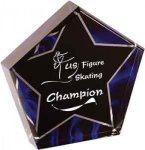 Blue Velvet Star Acrylic Star Awards