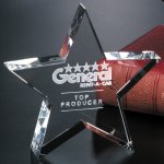 Tapered Star Star Crystal Awards