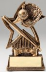 Star Series Sculpted Antique Gold Resin Trophy -Baseball  Star Series Sculpted Antique Gold Resin Trophy Awa