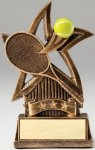 Star Series Sculpted Antique Gold Resin Trophy -Tennis Star Series Sculpted Antique Gold Resin Trophy Awa
